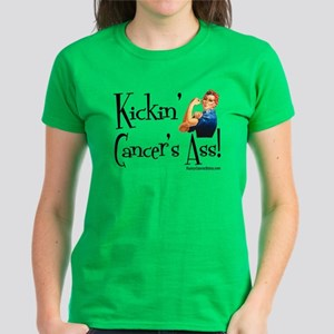 Kickin' Cancer's Ass! Women's Dark T-Shirt