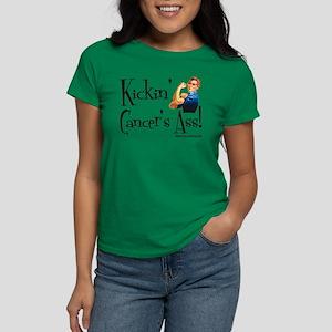 Kickin' Cancer's Ass! Women's Dark T-Shirt
