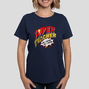 03bf67c38b0 Teacher Super Hero Women's Dark T-Shirt