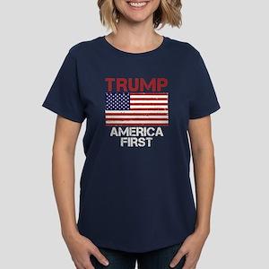 Trump America First Women's Dark T-Shirt