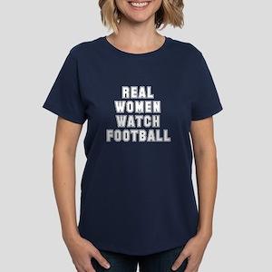 Real women watch football Women's Dark T-Shirt