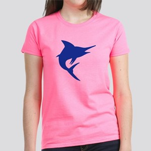 Blue Marlin Fish Women's Dark T-Shirt