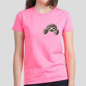 KiniArt Pocket Sloth Women's Dark T-Shirt