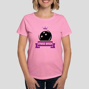 f98847a6f Bowling Strike Queen Women's Dark T-Shirt