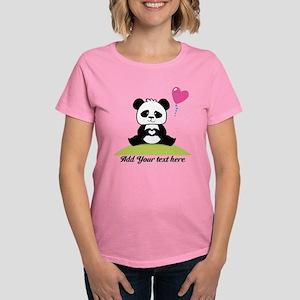 e9b632631 Panda's hands showing love Women's Dark T-Shirt
