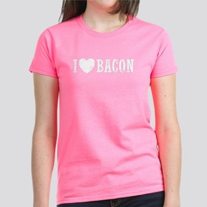 I Love Bacon Women's Dark T-Shirt