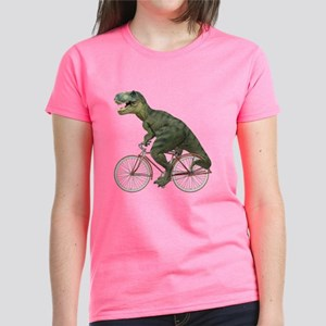 55c43e762 Cycling Tyrannosaurus Rex Women's Dark T-Shirt