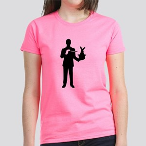 Magician bunny rabbit Women's Dark T-Shirt
