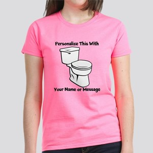 PERSONALIZED Toilet Graphic T-Shirt