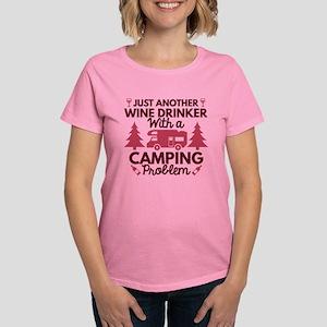 Wine Drinker Camping Women's Dark T-Shirt
