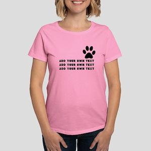 Dog's paw Women's Dark T-Shirt