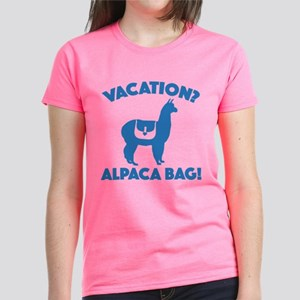 Vacation? Alpaca Bag! Women's Dark T-Shirt
