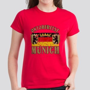OKTOBERFEST Munich Distressed Women's Dark T-Shirt