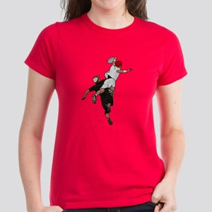 Bid over Shoulder Women's Dark T-Shirt