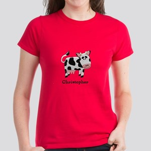 7d090749 Cow Just Add Name T-Shirt
