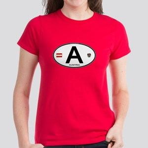 Austria Euro Oval Women's Dark T-Shirt