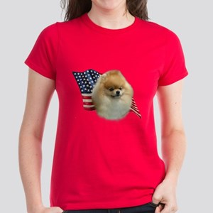 Pomeranian Flag Women's Dark T-Shirt