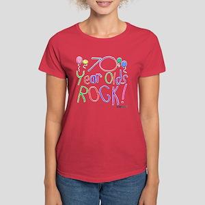 70 Year Olds Rock ! Women's Dark T-Shirt
