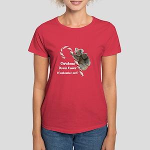 Aussie Koala Christmas Candy Women's Dark T-Shirt