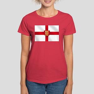 England Three Lions Flag Women's Dark T-Shirt