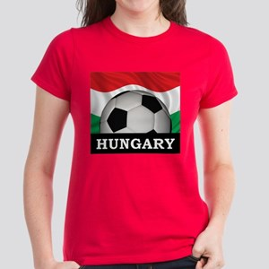 Hungary Football Women's Dark T-Shirt