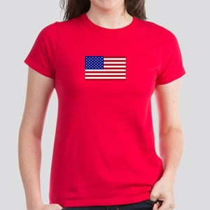 American Flag Women's Dark T-Shirt