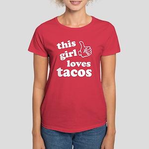 This girl loves tacos Women's Dark T-Shirt