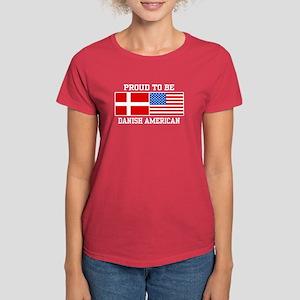 Proud Danish American Women's Dark T-Shirt