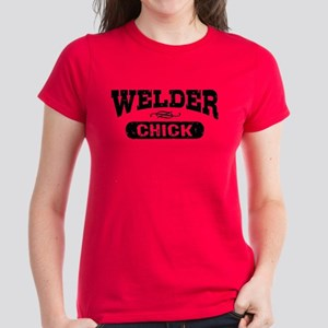 Welder Chick Women's Dark T-Shirt