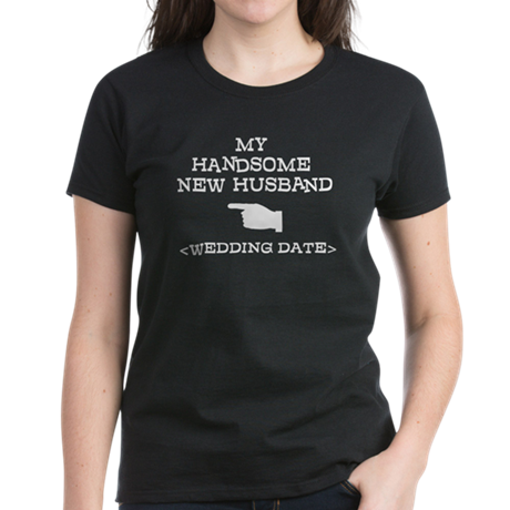 New Husband (Wedding Date) Women's Dark T-Shirt