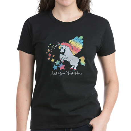 Unicorn Rainbow Star Women's Dark T-Shirt