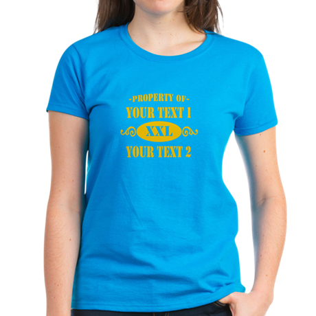 Property of Your Text Women's Dark T-Shirt