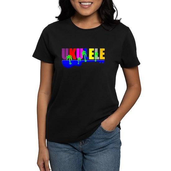 rainbow hawaiian colors ukulele