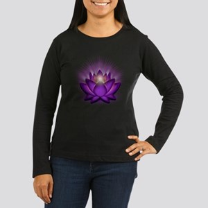 "Violet ""Crown"" Chakra Lotus Women's Long Sleeve Da"