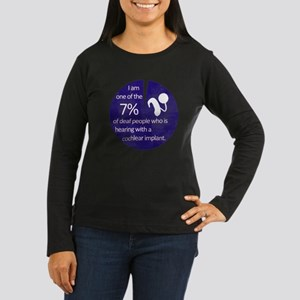 7 Percent Women's Long Sleeve Dark T-Shirt