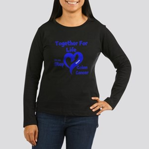 Personalize Colon Cancer Women's Long Sleeve Dark