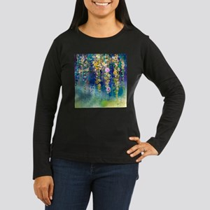 Floral Painting Women's Long Sleeve Dark T-Shirt
