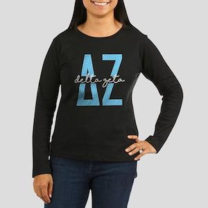 Delta Zeta Polka Women's Long Sleeve Dark T-Shirt