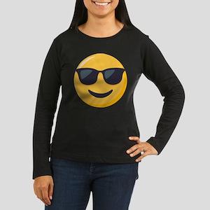 Sunglasses Emoji Women's Long Sleeve Dark T-Shirt