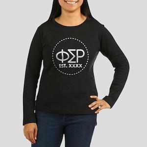 Phi Sigma Rho Cir Women's Long Sleeve Dark T-Shirt