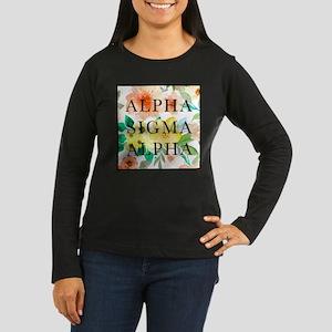 Alpha Sigma Alpha Women's Long Sleeve Dark T-Shirt