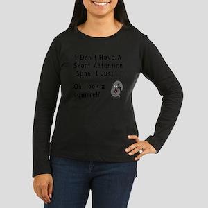 Short Attention B Women's Long Sleeve Dark T-Shirt