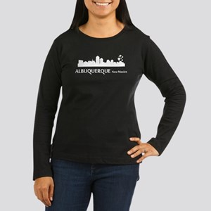 Albuquerque Cityscape Skyline Long Sleeve T-Shirt