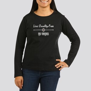 Live Cruelty Free Women's Long Sleeve Dark T-Shirt