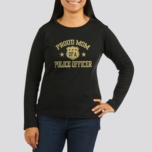 Proud Mom of a Police Officer Women's Long Sleeve