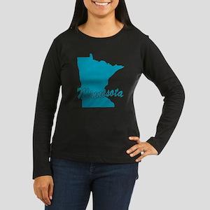 State Minnesota Women's Long Sleeve Dark T-Shirt