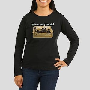 NBlk Where RU Women's Long Sleeve Dark T-Shirt
