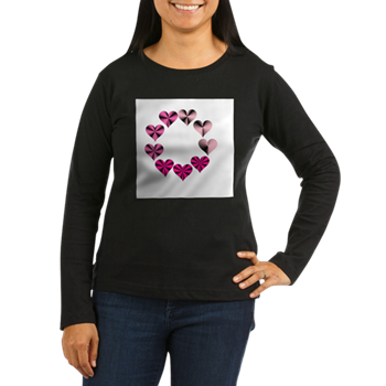 Circle of Pink Hearts Long Sleeve T-Shirt