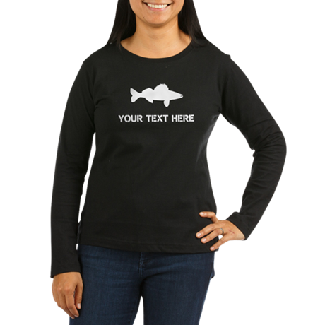 CUSTOMIZABLE WALLEYE Women's Long Sleeve Dark T-Sh