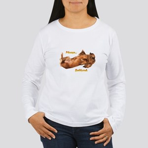 Bellyrub Doxie Women's Long Sleeve T-Shirt